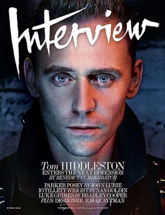Tom Hiddleston by Steven Klein for Interview, October 2016