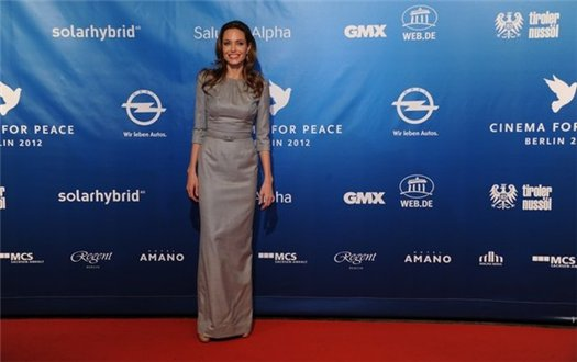 Анджелина и Брэд на Cinema For Peace Gala 2012