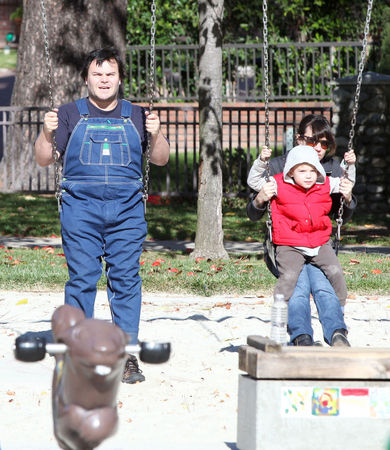 Jack Black's Family Day at the Park