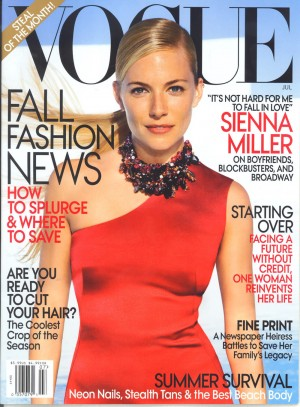 Сиенна Миллер в съемке US Vogue July 2009