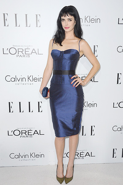 Кристен Риттер на вечере ELLE Women In Hollywood, октябрь 2012-го, платье Romona Keveza