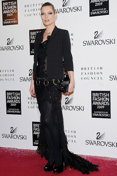 Кейт Мосс на British Fashion Awards, декабрь 2009-го