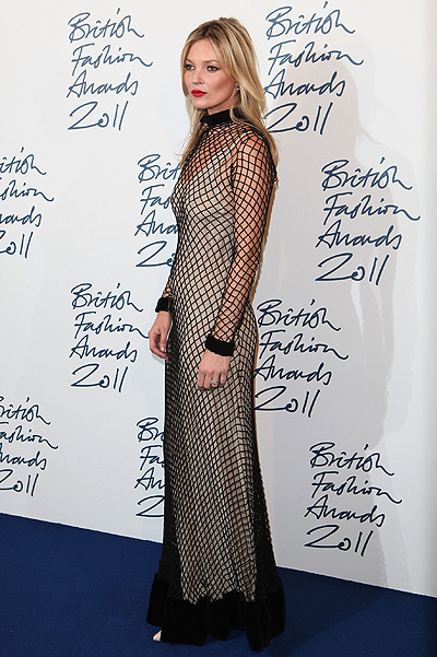 Кейт Мосс в ноябре 2011-го на British Fashion Awards