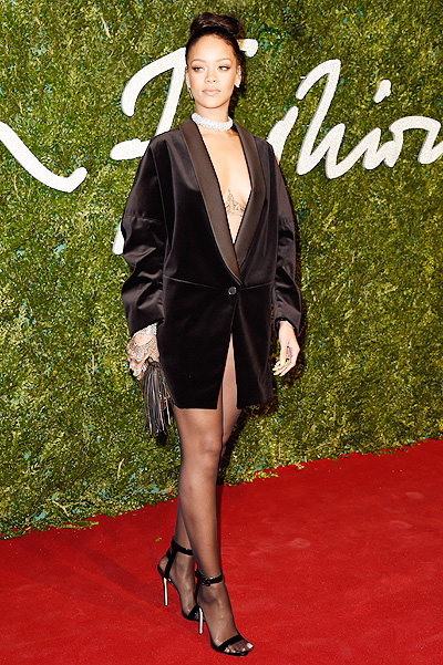 Рианна на British Fashion Awards, декабрь 2014-го