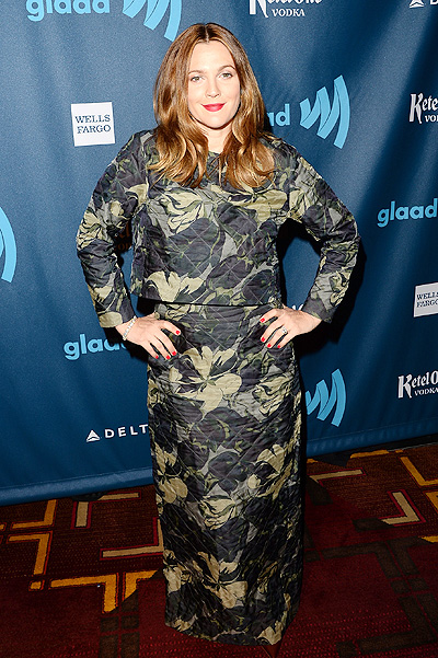 Дрю на GLAAD Media Awards в апреле 2013-го, наряд Dries van Noten