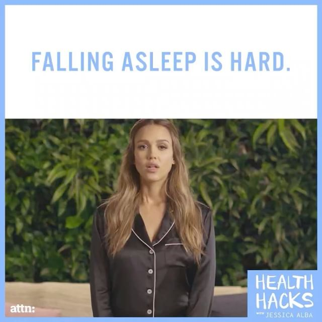 Check out some tips on how to fall asleep faster on this week's Health Hacks with @attndotcom. Link in bio to watch and comment    if you find it hard to fall asleep at night, too.