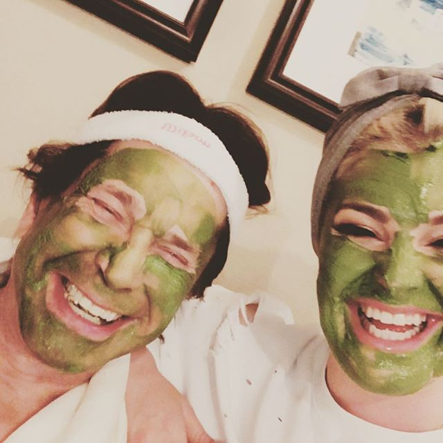 My dad and I had so much fun playing with face masks tonight!