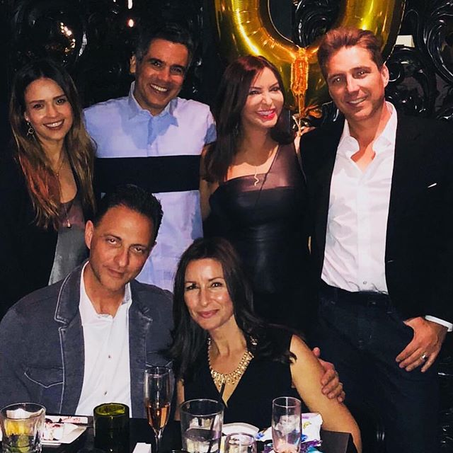 #aboutlastnight loved celebrating my friend and partner/CEO @honest #nickvlahos and his beautiful wife Angela s Birthday