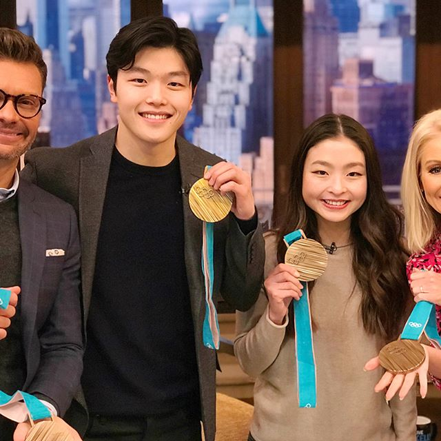 Congrats to @alexshibutani and @maiashibutani on medaling at the #WinterOlympics! When Mere and I were their age, our biggest competition was who gets the remote.
