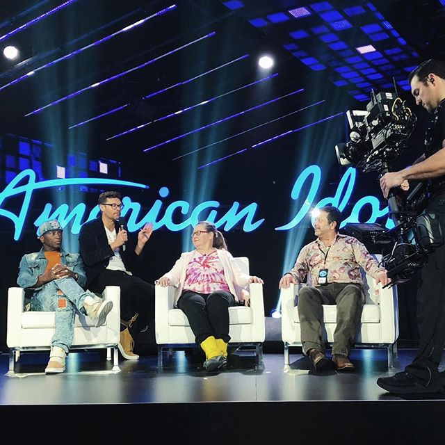 Something s different about @lionelrichie, @katyperry and @lukebryan today... #americanidol #standins