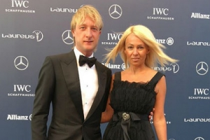 Яна Рудковская и Евгений Плющенко стали гостями Laureus World Sports Awards
