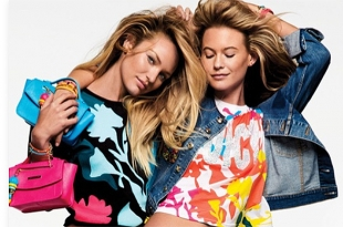 Сочно в номер: Кэндис Свейнпол и Бехати Принслу в рекламной кампании Juicy Couture