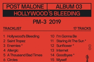 "Post Malone ""Hollywood's Bleeding"" 9/6 =)"