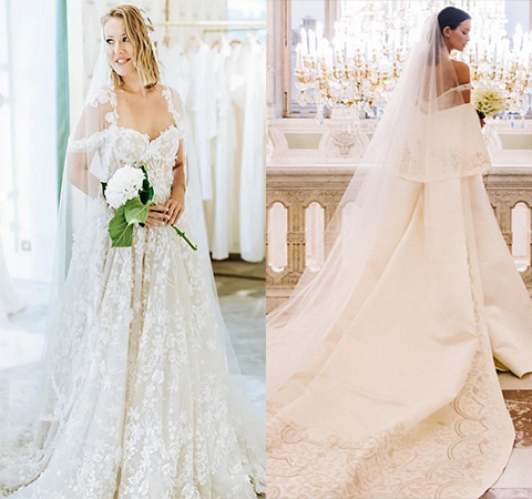 The battle of wedding dresses: Ksenia Sobchak against Paulina Andreeva